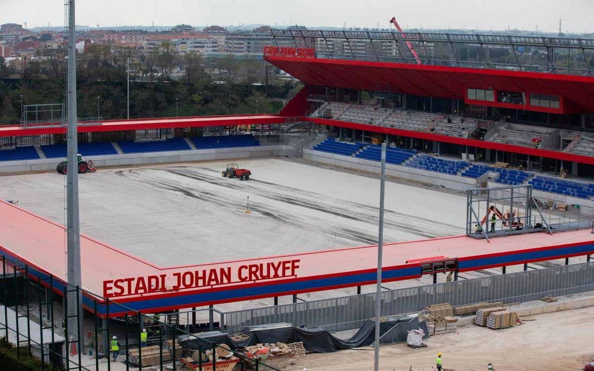 El nombre de Johan Cruyff ya luce en el futuro estadio