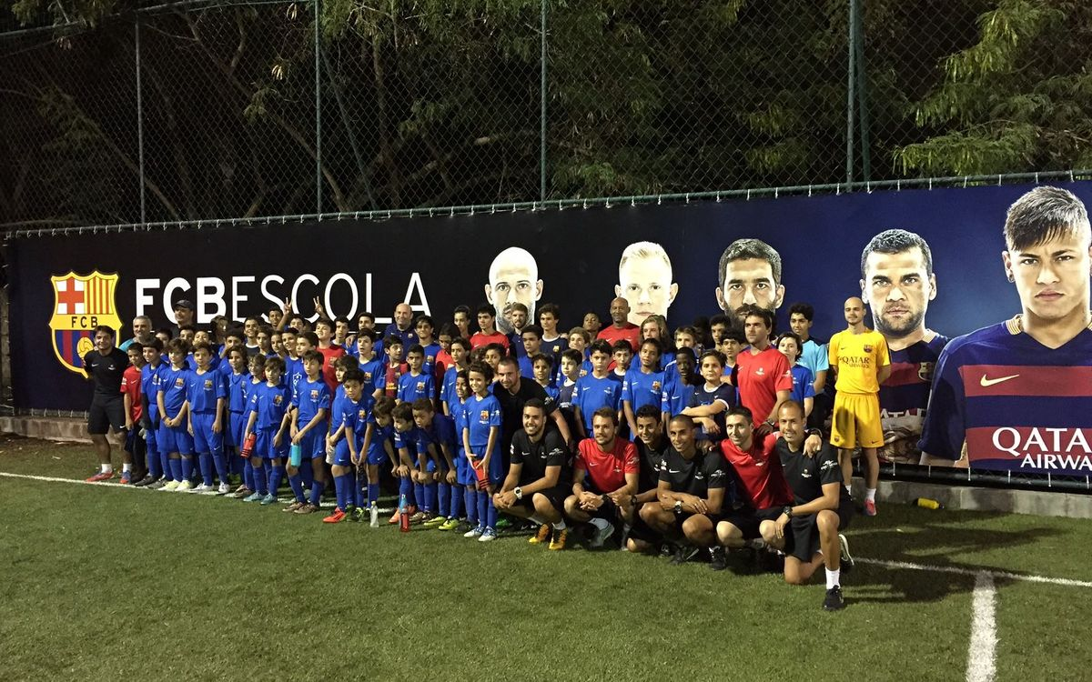 Òscar Grau visita las dos FCBEscola de Brasil
