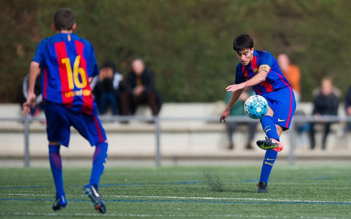 El jugador FCBEscola Eric García, campió d'Europa Sub-17