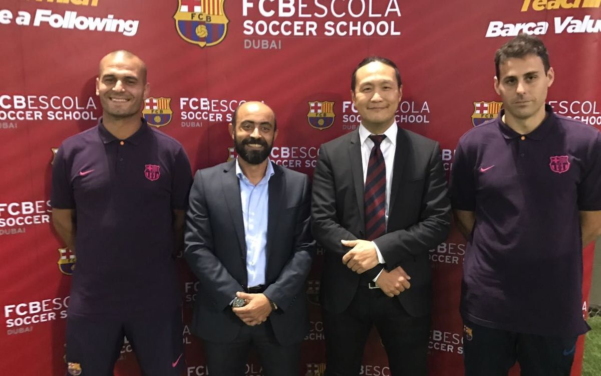 FC Barcelona New Technology Director Dídac Lee visits the FCBEscola Dubai