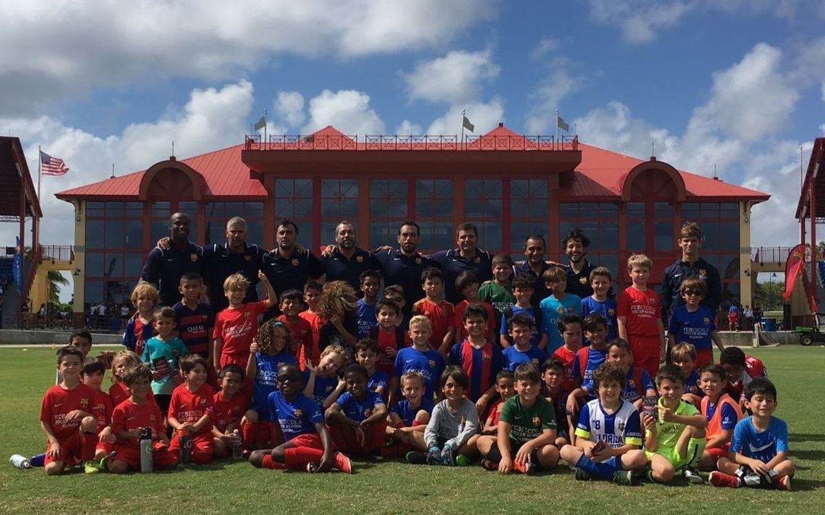 Great reception for Boys Open House at FCBEscola Florida