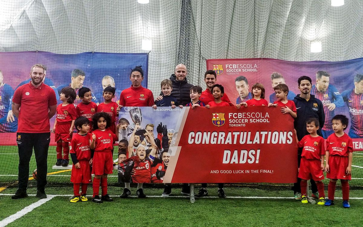 Surprise congratulations at FCBEscola Toronto