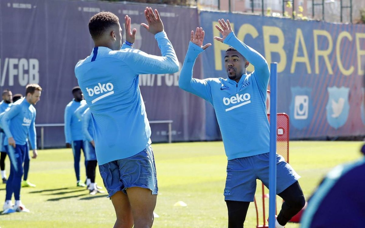 Recovery session before Atlético