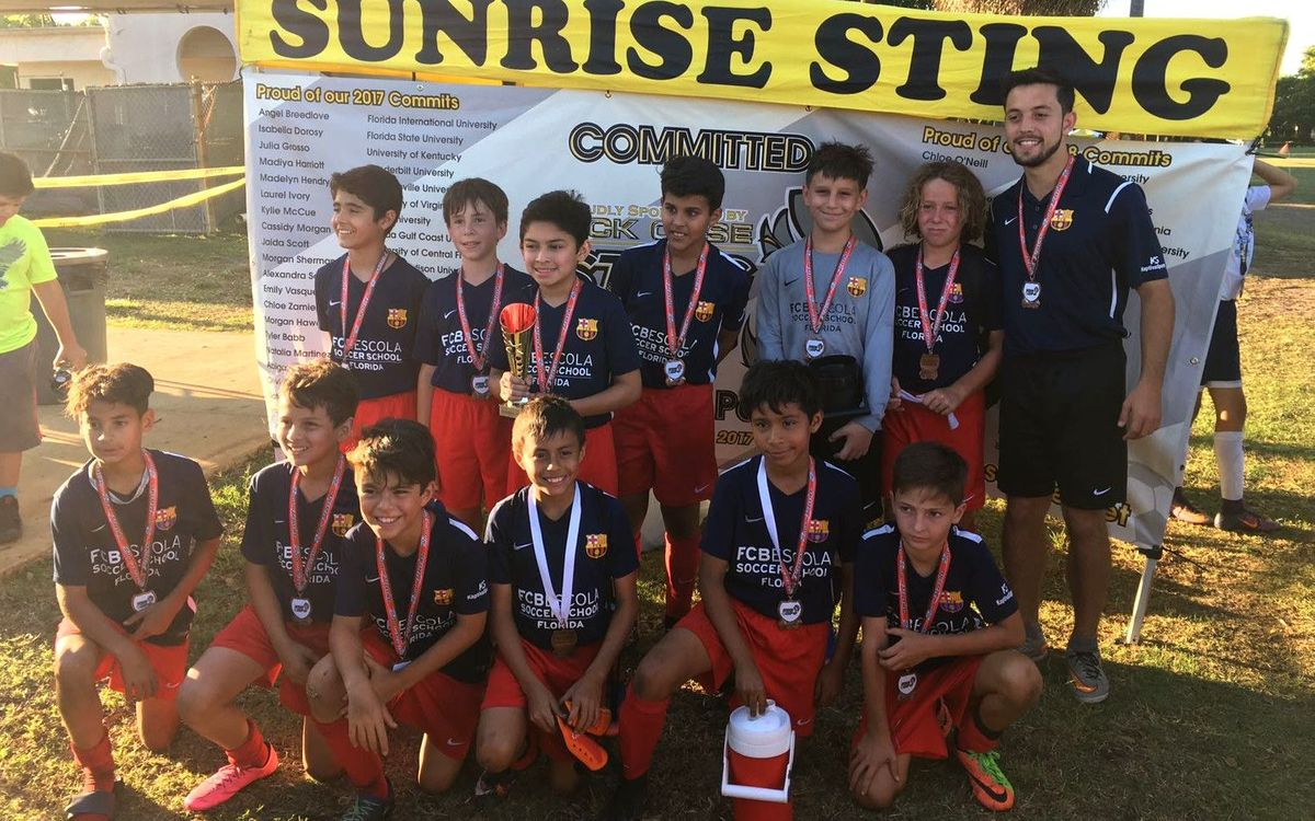 FCBEscola Florida, the big winner at the Sting Cup
