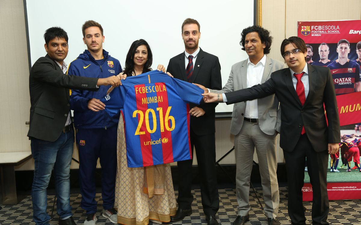 Presentation of the new FCBEscola in Bombay