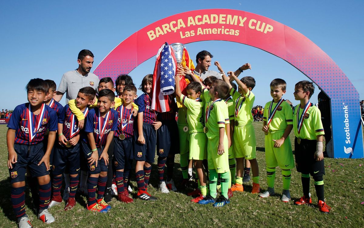 Fine sporting gesture at Barça Academy Las Americas Cup