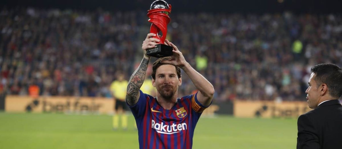 Leo Messi, chosen as best player in La Liga for March