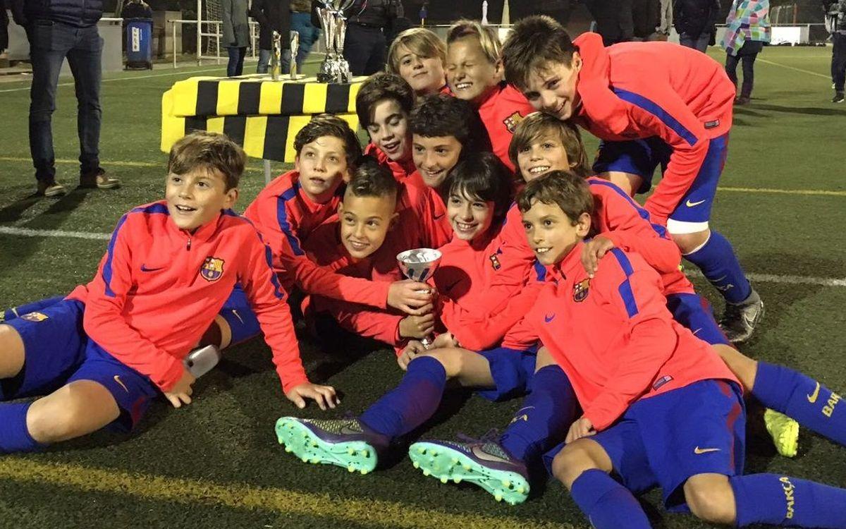 L'FCBEscola Barcelona, campiona de dues categories del Torneig Solidari de la Marató de TV3