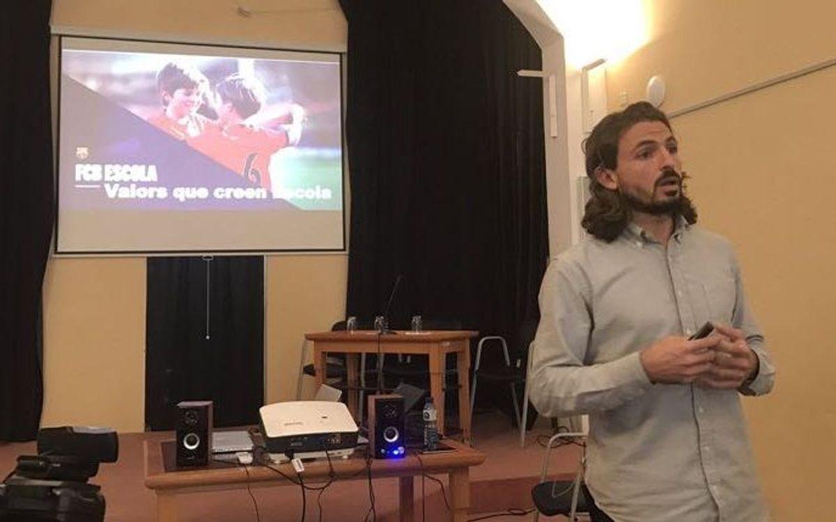 Tres representants de l'FCBEscola, ponents a les cinquenes 'Jornades més enllà de l'esport'