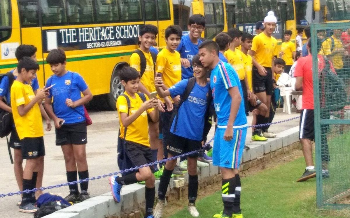 FCBEscola Delhi hosts India and Colombia U-17 national teams ahead of World Cup