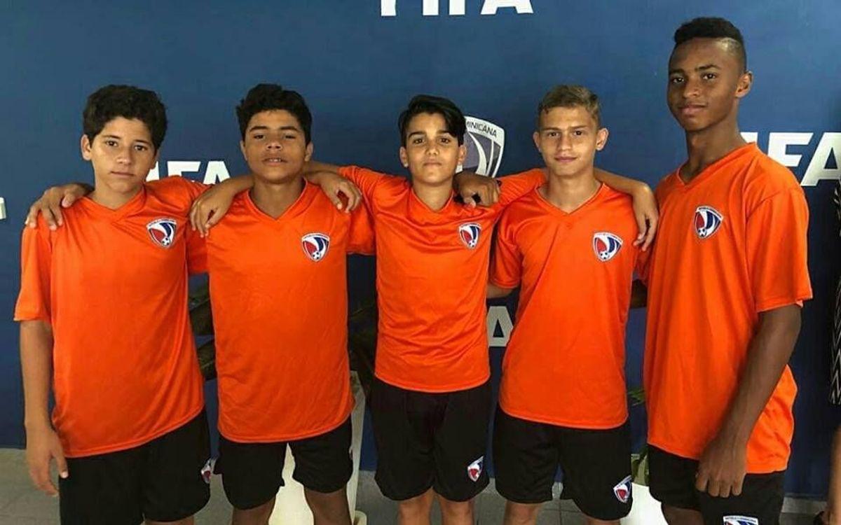 Cinco jugadores de la Barça Academy República Dominicana, a la selección dominicana Sub14
