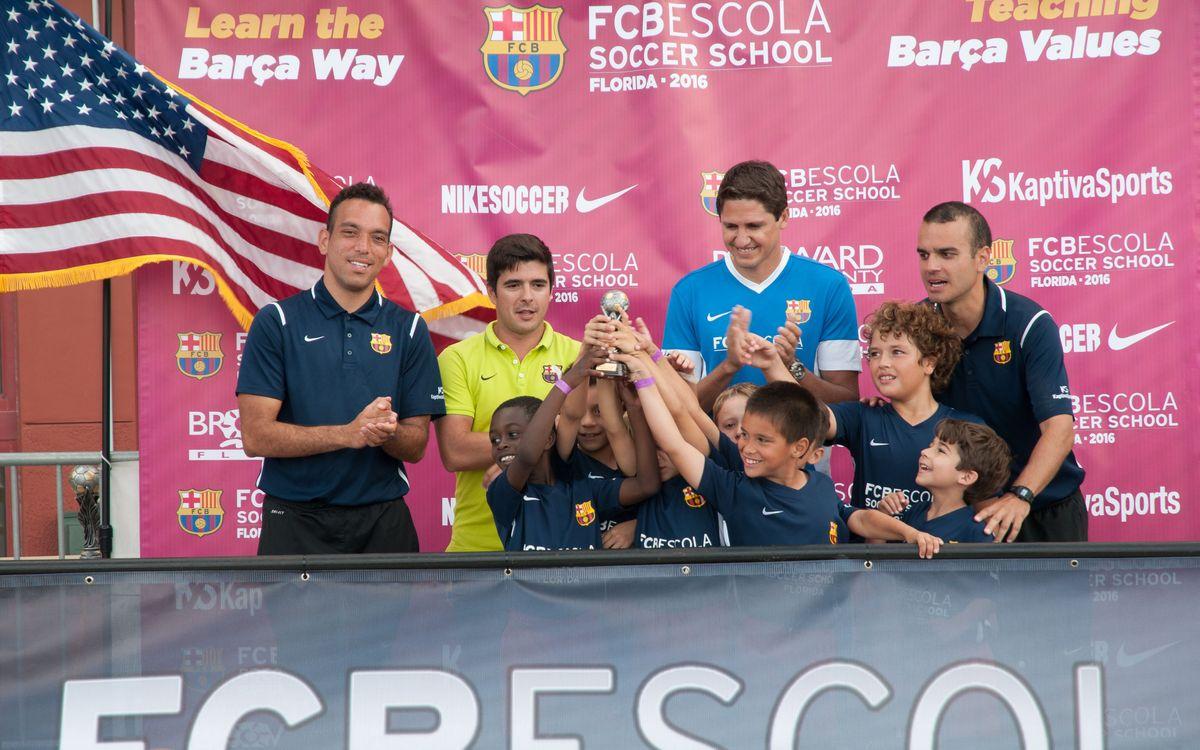 Edmilson apadrina el Torneo de la FCBEscola Florida