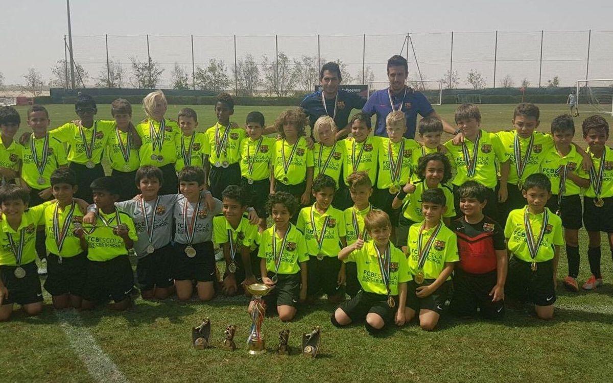 FCBEscola Dubai ends internal and external leagues in fine style