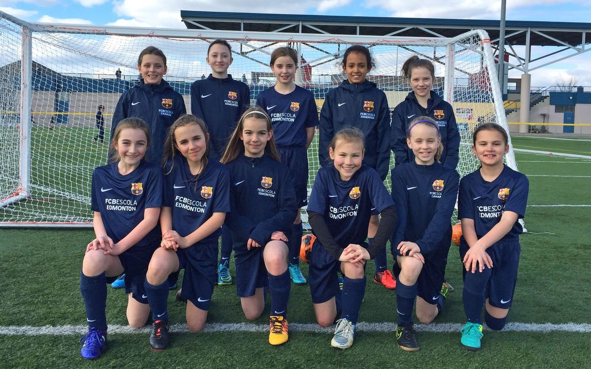 Alexia, the first FCBEscola for girls in Edmonton