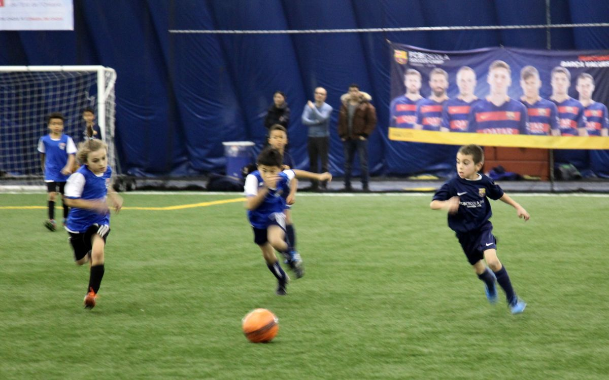 More than 200 players feature at FCBEscola Ottawa's Winter Festival