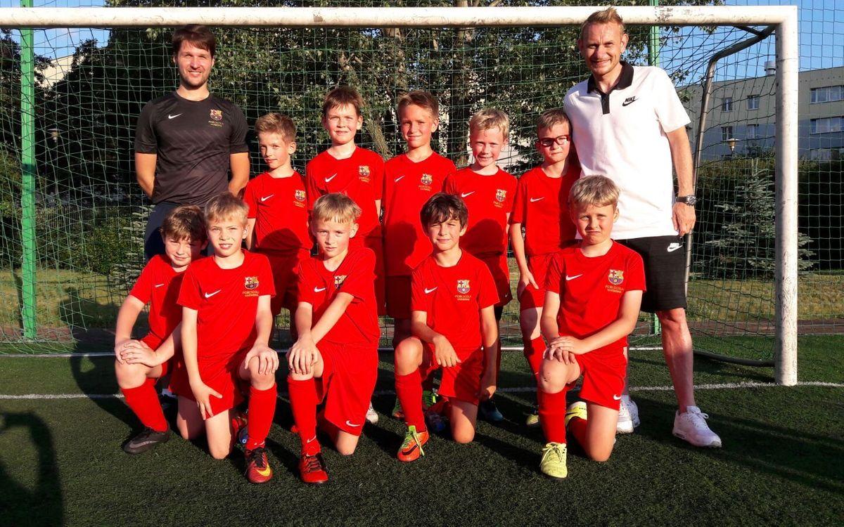 Sebastian Mila disfruta de una jornada de entrenamientos en la FCBEscola Varsovia