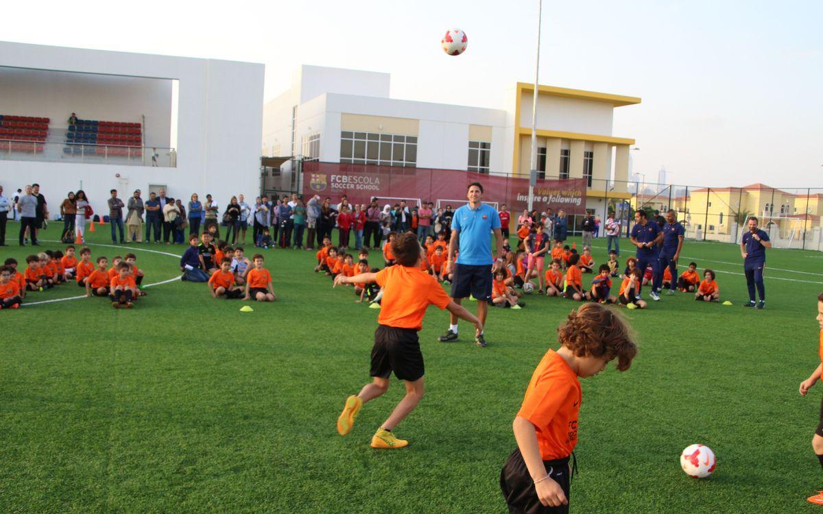 José Edmílson in Dubai on first duty as FCBEscola ambassador