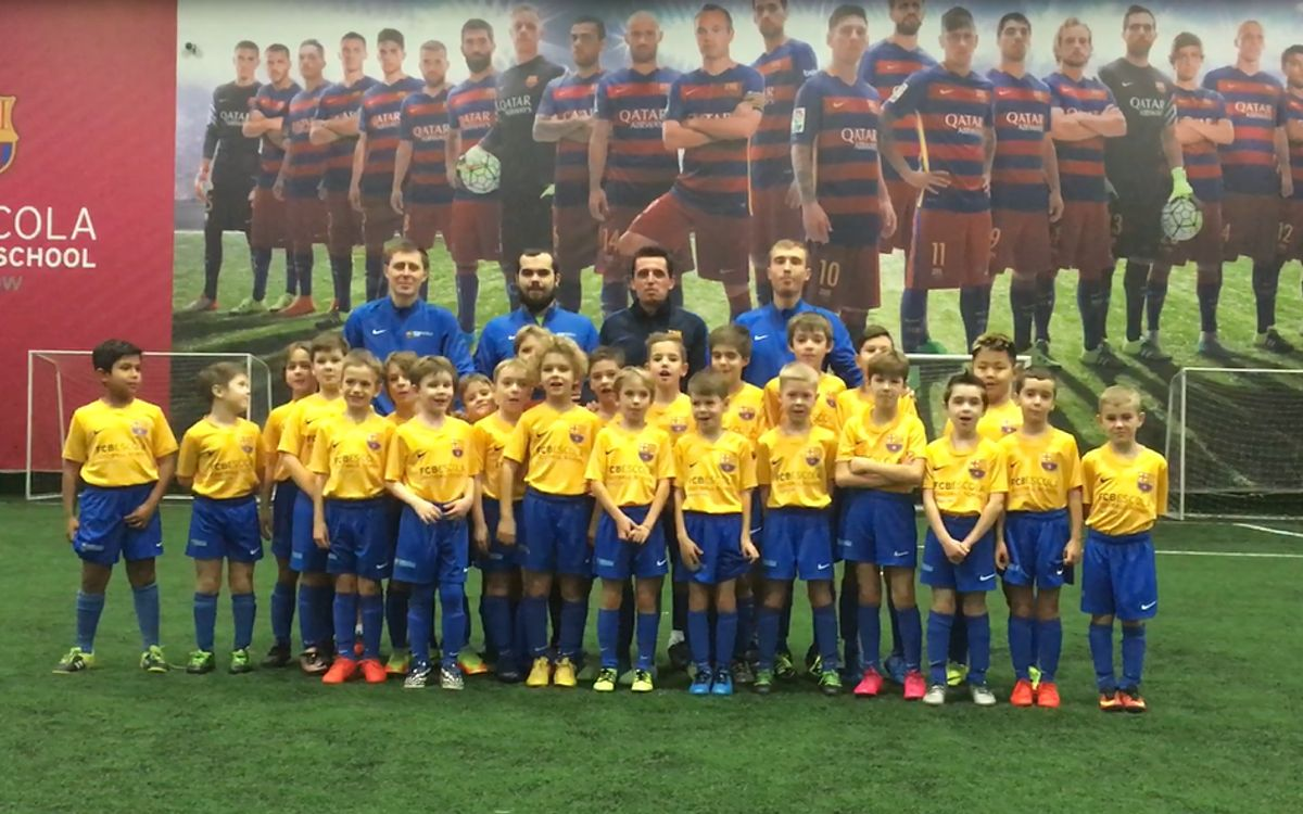 FCBEscolas congratulate FC Barcelona for 117 years of history