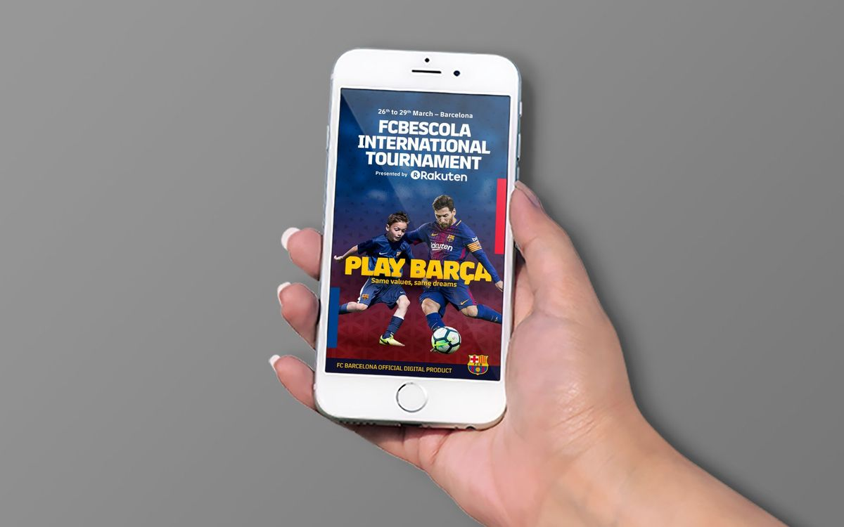 NEW APP! The #FCBESCOLA18 Int'l Tourney, on iOS and Android!