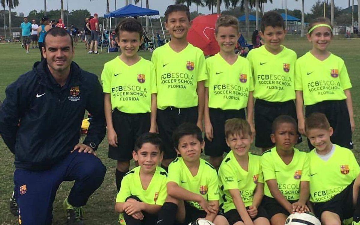 Els equips Sub10 i Sub13 de l'FCBEscola Florida, campions de la Weston Cup