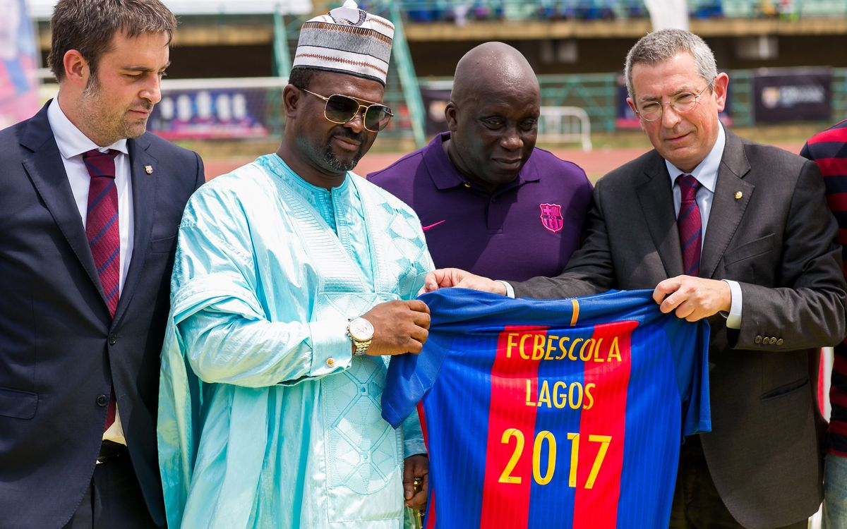 FCBEscola Lagos official opening, the first to come from a Supporters' Club
