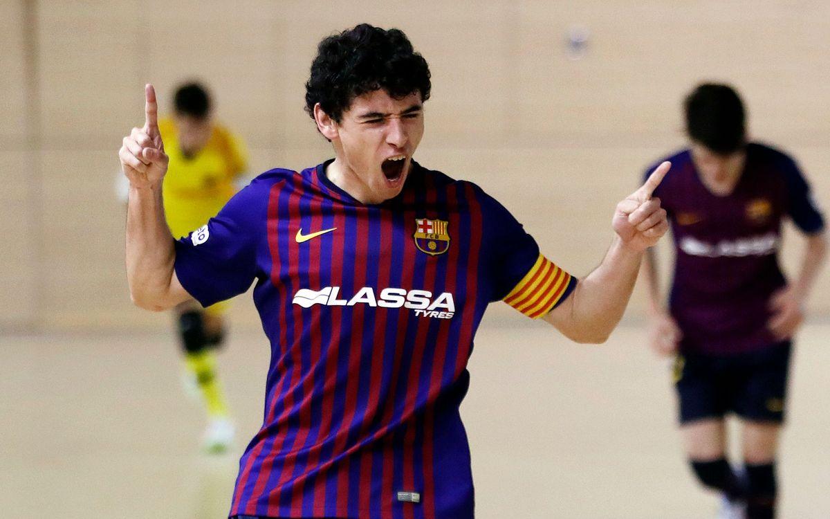 Barça Lassa B - Bisontes Castellón FS (2-0): Sabiduría azulgrana
