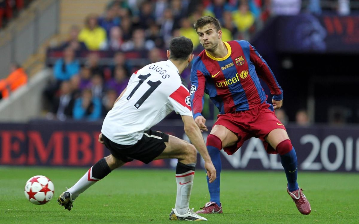 Piqué goes back to Old Trafford