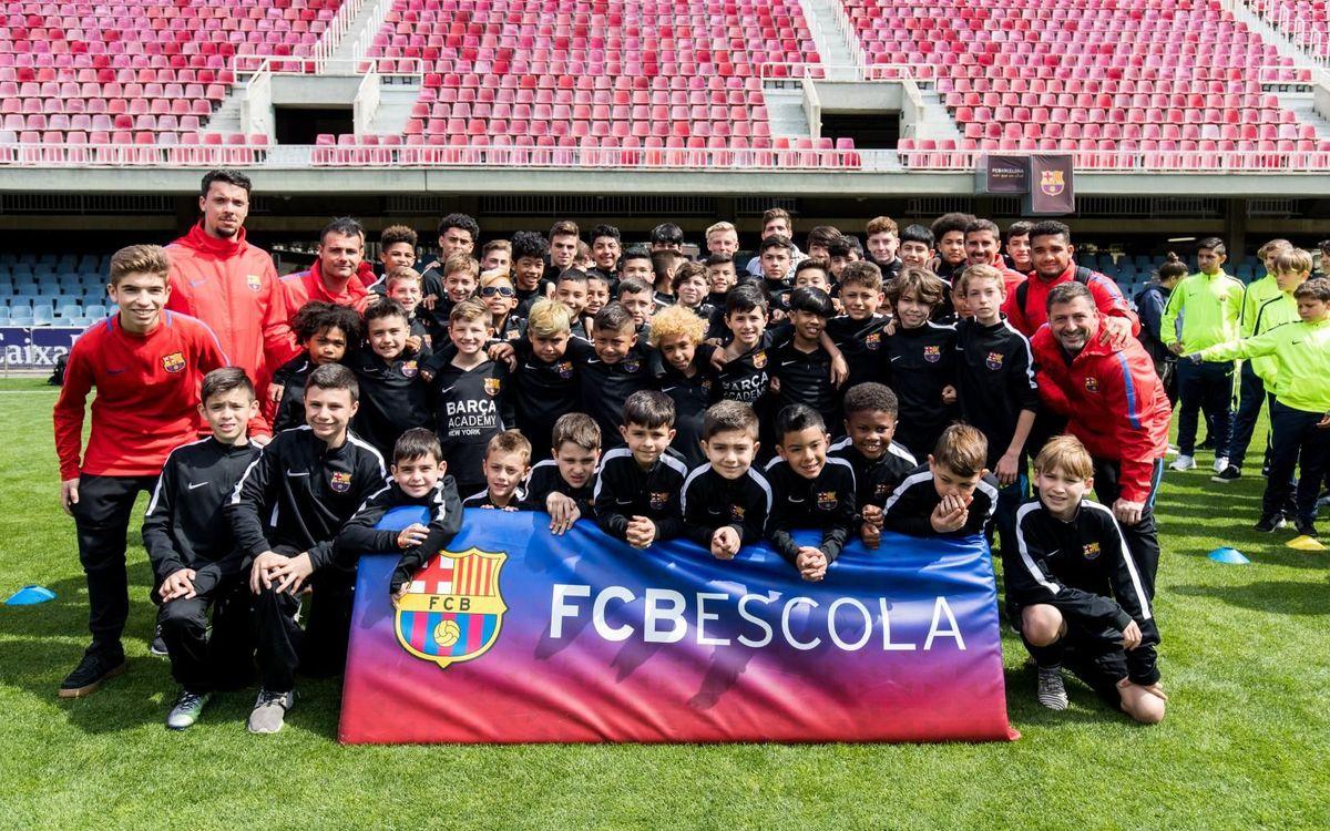 Els equips internacionals del VII Torneig Internacional FCB Escola