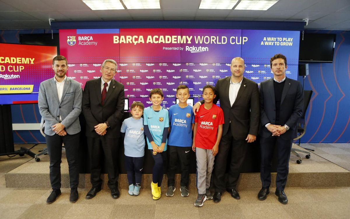 Roda de premsa de presentació Barça Academy World Cup 2019 by Rakuten