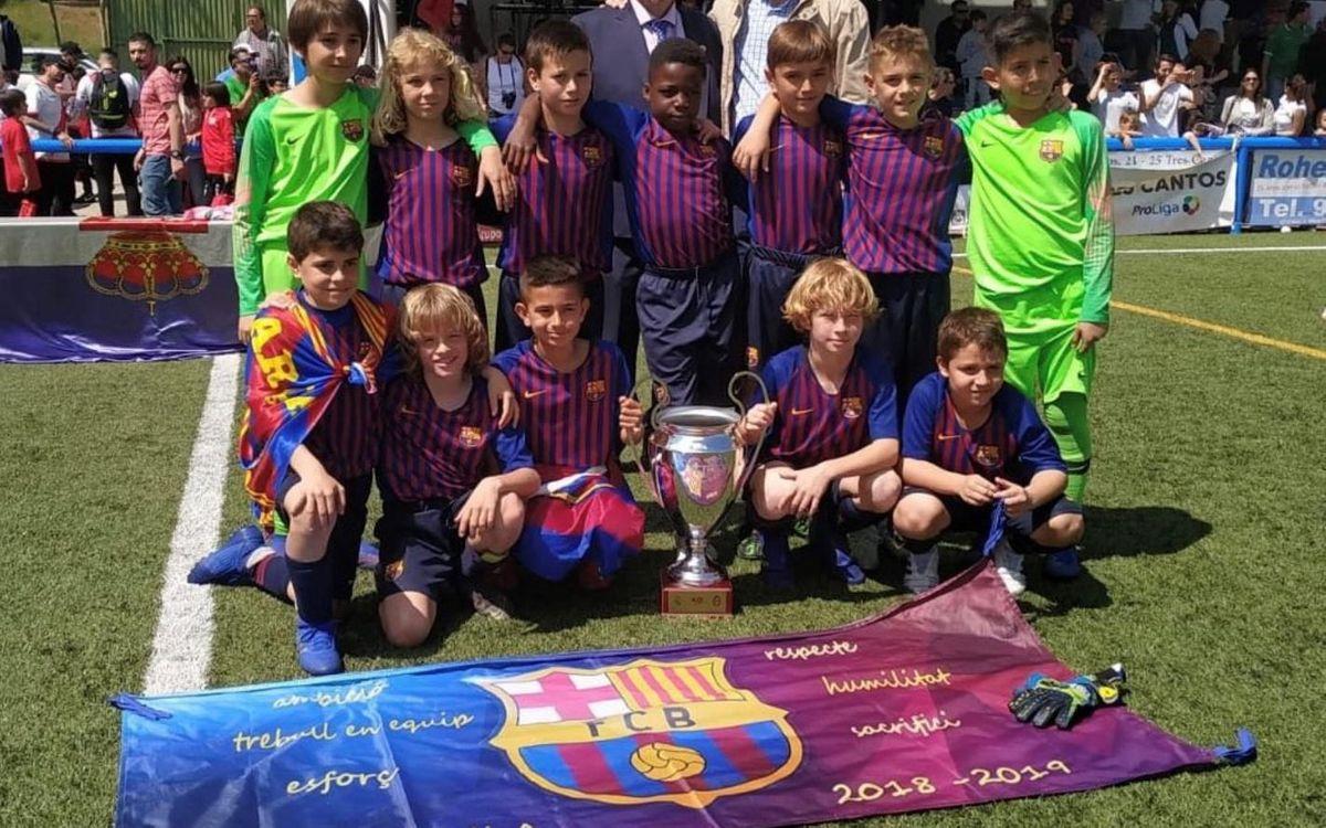 El Benjamín A, campeón de la Tres Cantos Cup