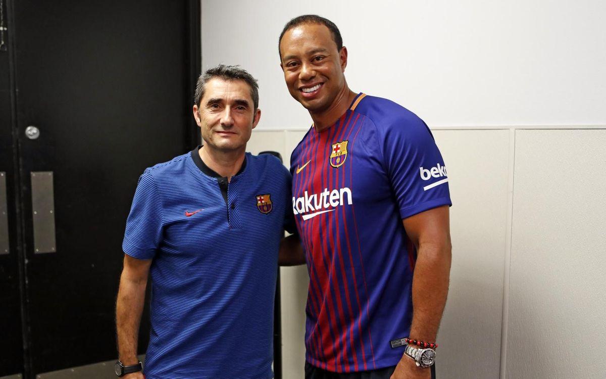 Ernesto Valverde i Tiger Woods - MIGUEL RUIZ
