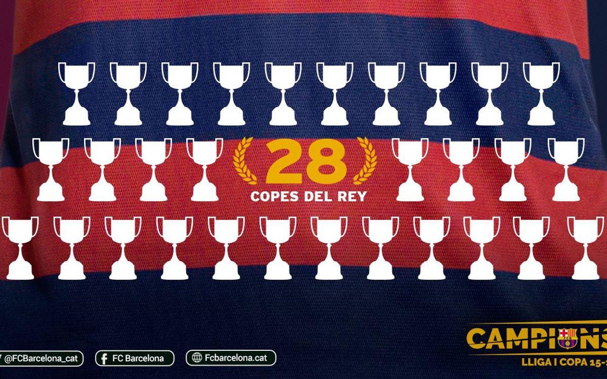 El Barça guanya la seva 28a Copa del Rei