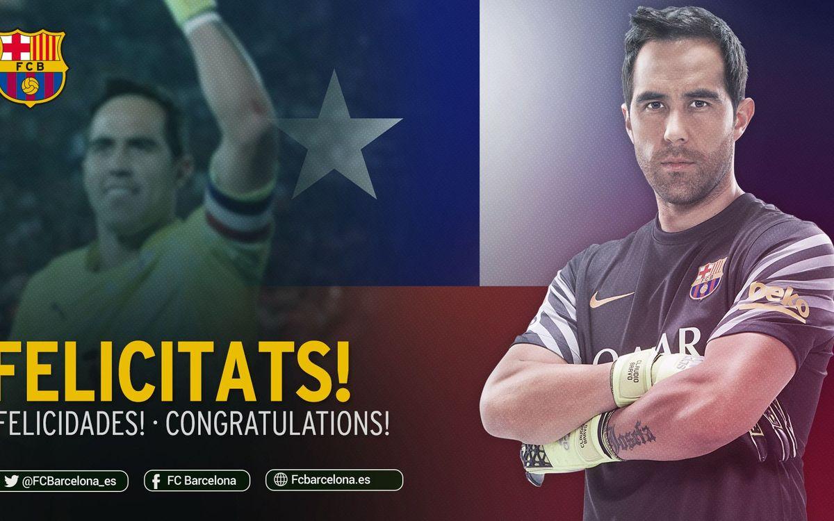 Claudio Bravo y Chile vuelven a reinar en América
