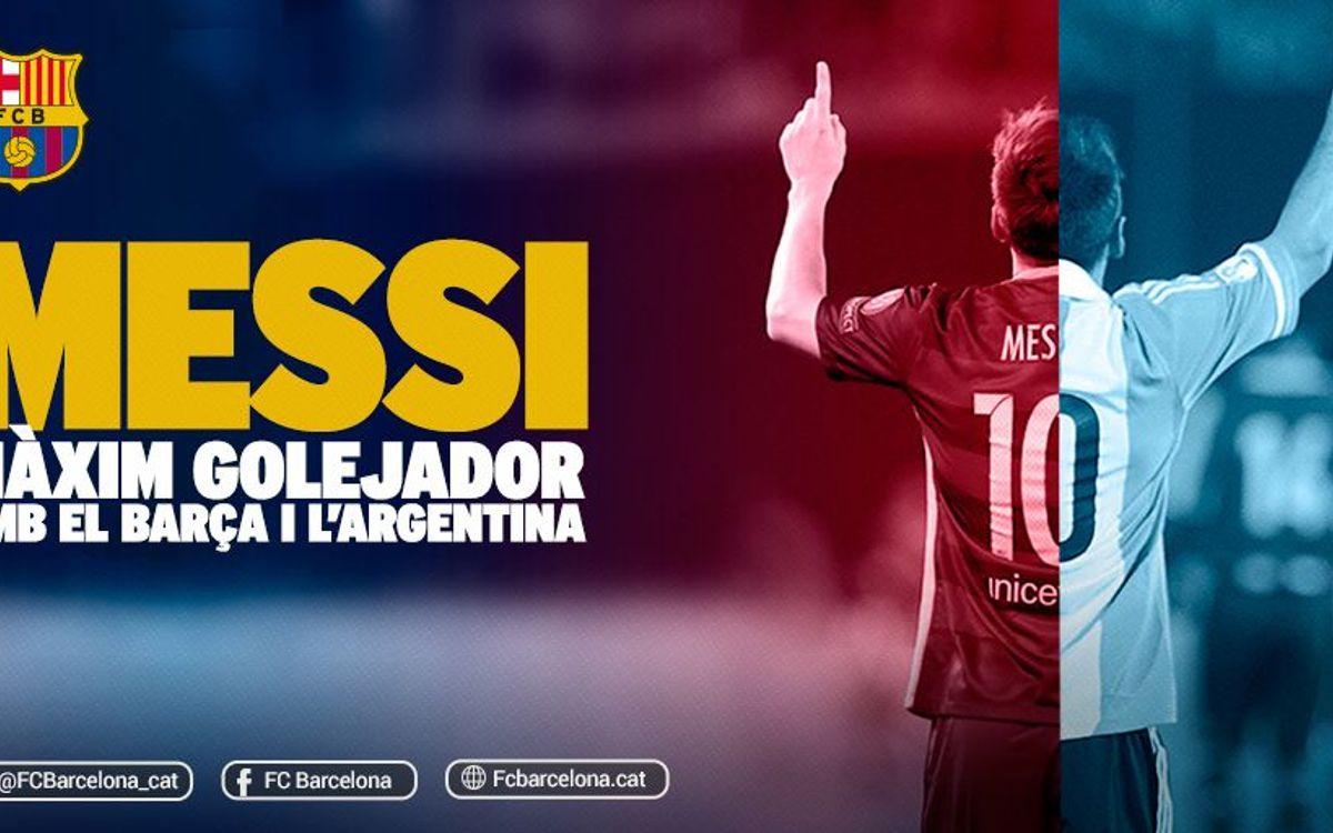 Messi iguala Batistuta com a màxim golejador de l'Argentina
