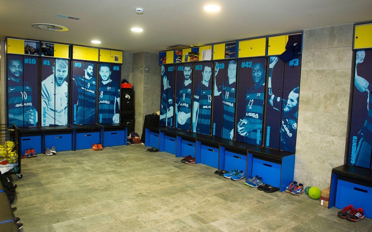 Les noves taquilles del Barça d'handbol, futbol sala i hoquei patins