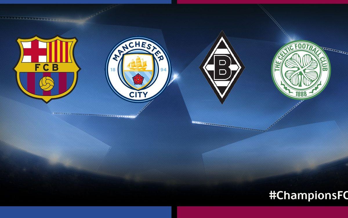 Manchester City, Mönchengladbach i Celtic, els rivals del Barça a la Champions