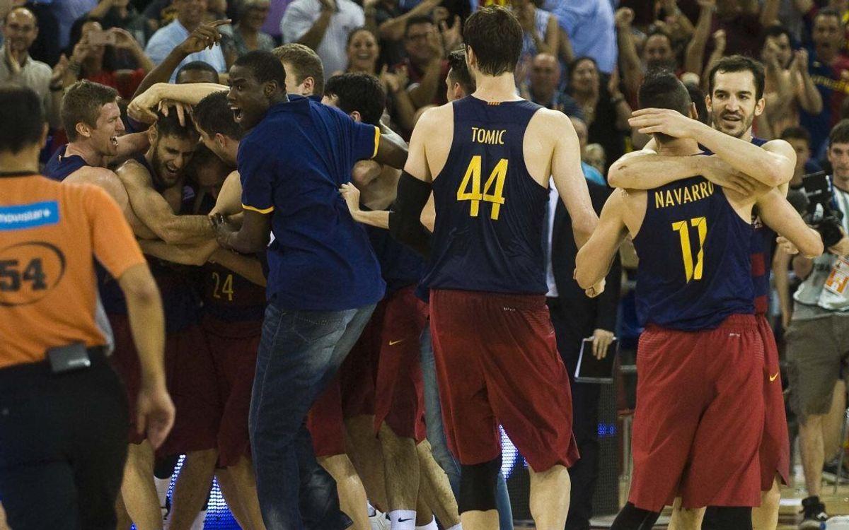 FC Barcelona Lassa- Real Madrid: Triunfo épico para abrir una final con suspense (100-99)