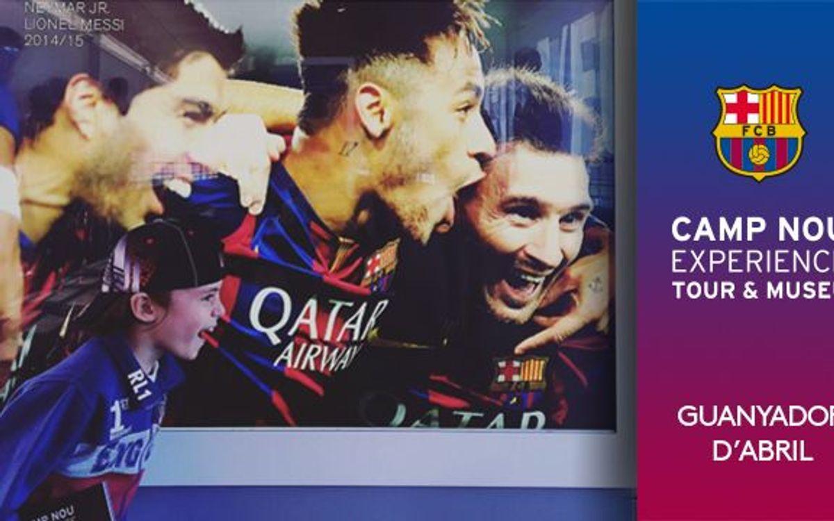 Ja es coneix el guanyador del concurs 'Camp Nou Experience' del mes d'abril