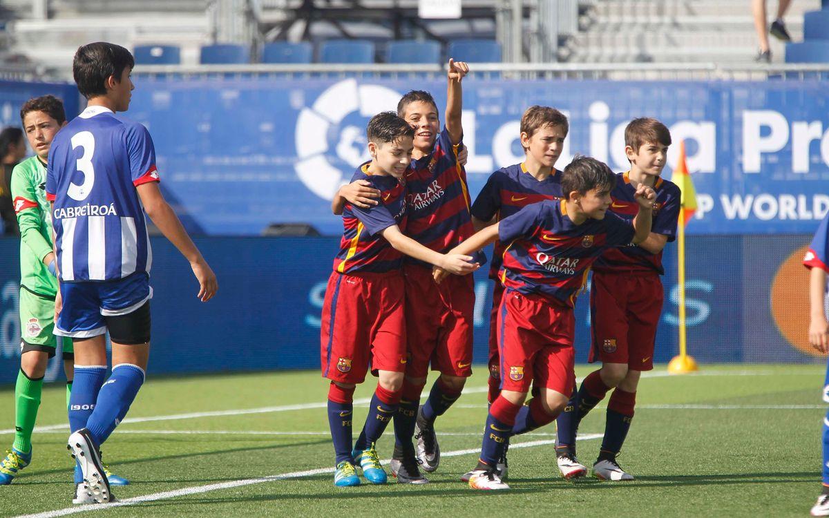 L'Aleví A jugarà contra l'Espanyol els vuitens de final de LaLiga Promises