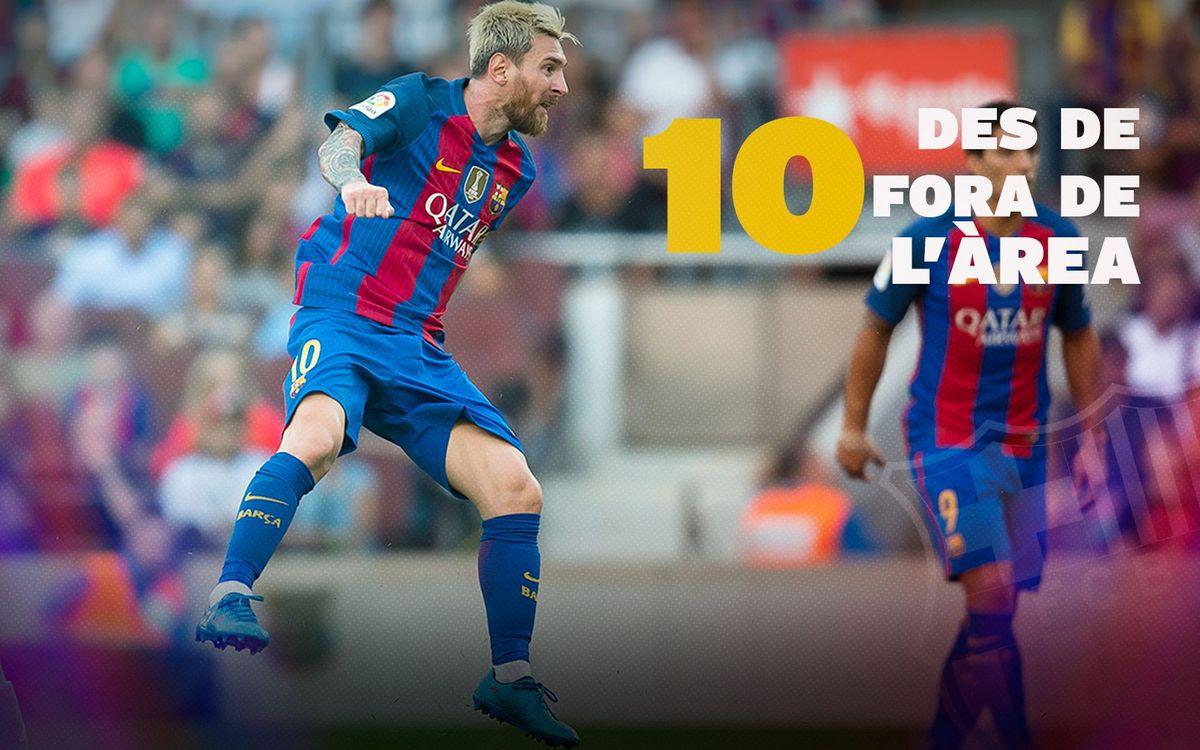 Els millors gols des de fora de l'àrea de Leo Messi
