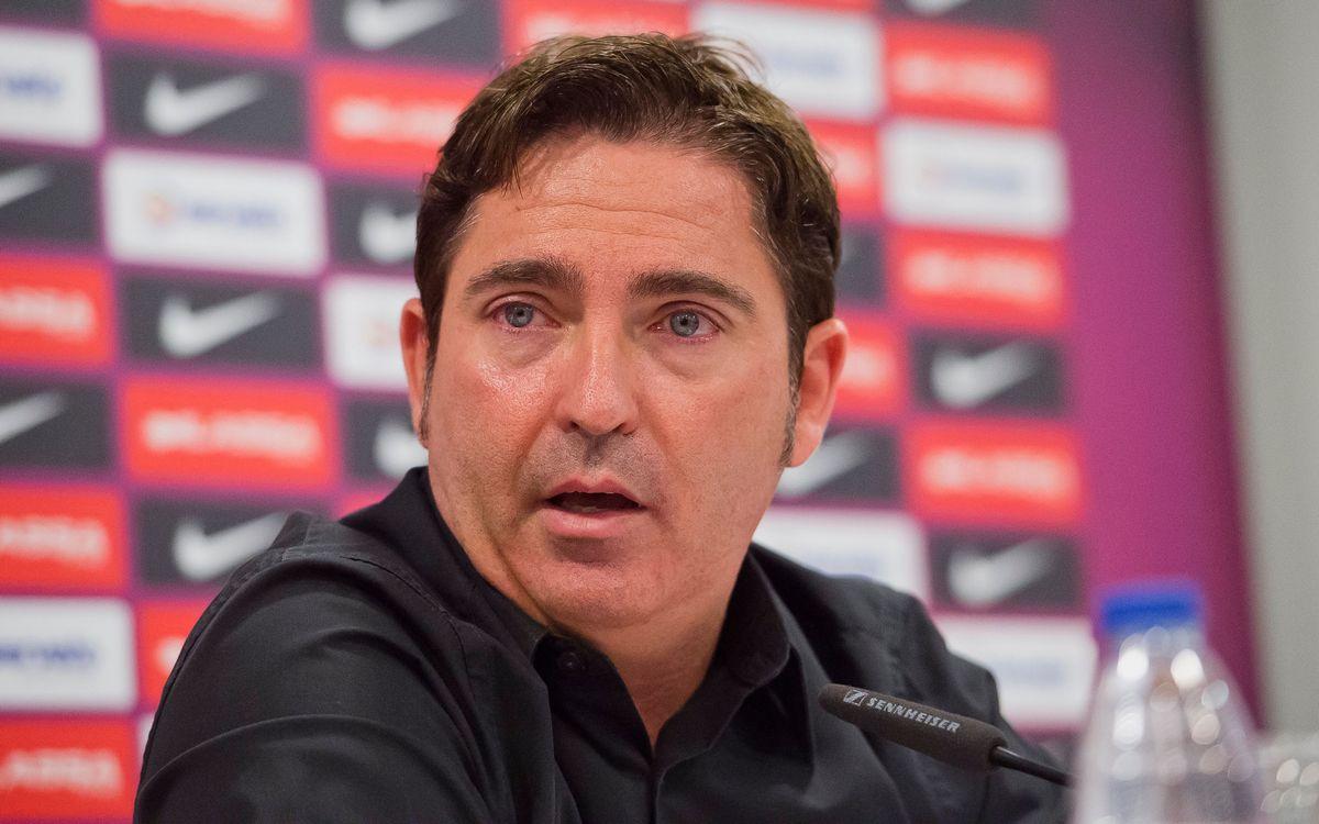 Xavi Pascual, en su despedida como entrenador del Barça Lassa: