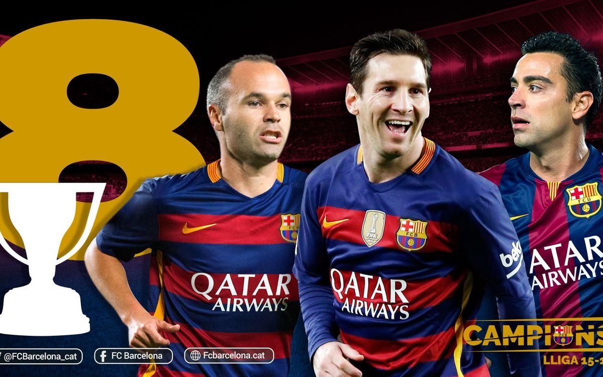 La octava Liga para Messi e Iniesta