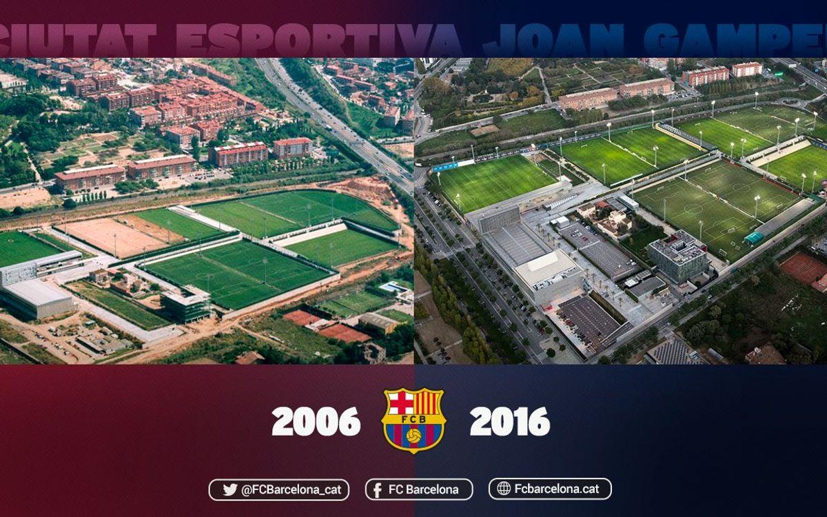 Deu anys de la inauguració de la Ciutat Esportiva Joan Gamper