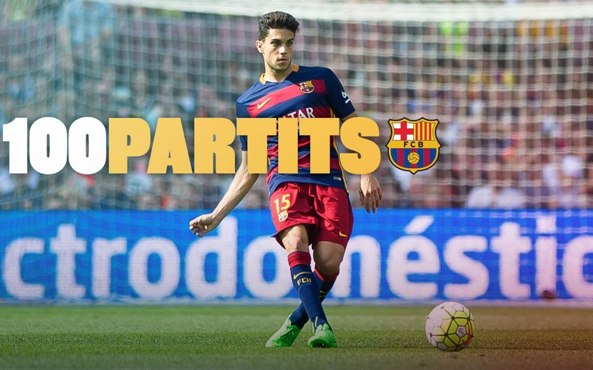 Marc Bartra compleix 100 partits oficials amb el FC Barcelona