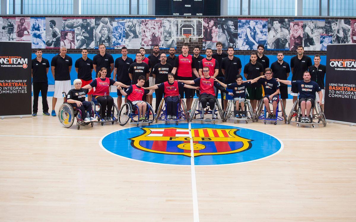 One Team clinic at Ciutat Esportiva