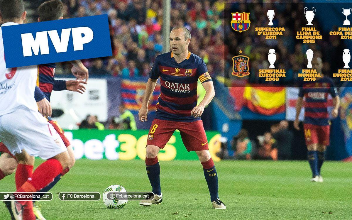 Andrés Iniesta, el rey de los MVP