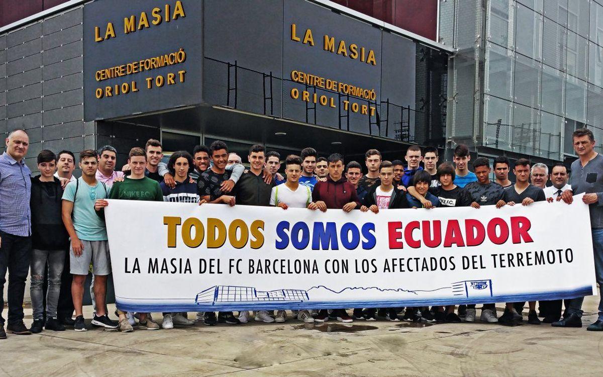 El FC Barcelona, amb el poble equatorià