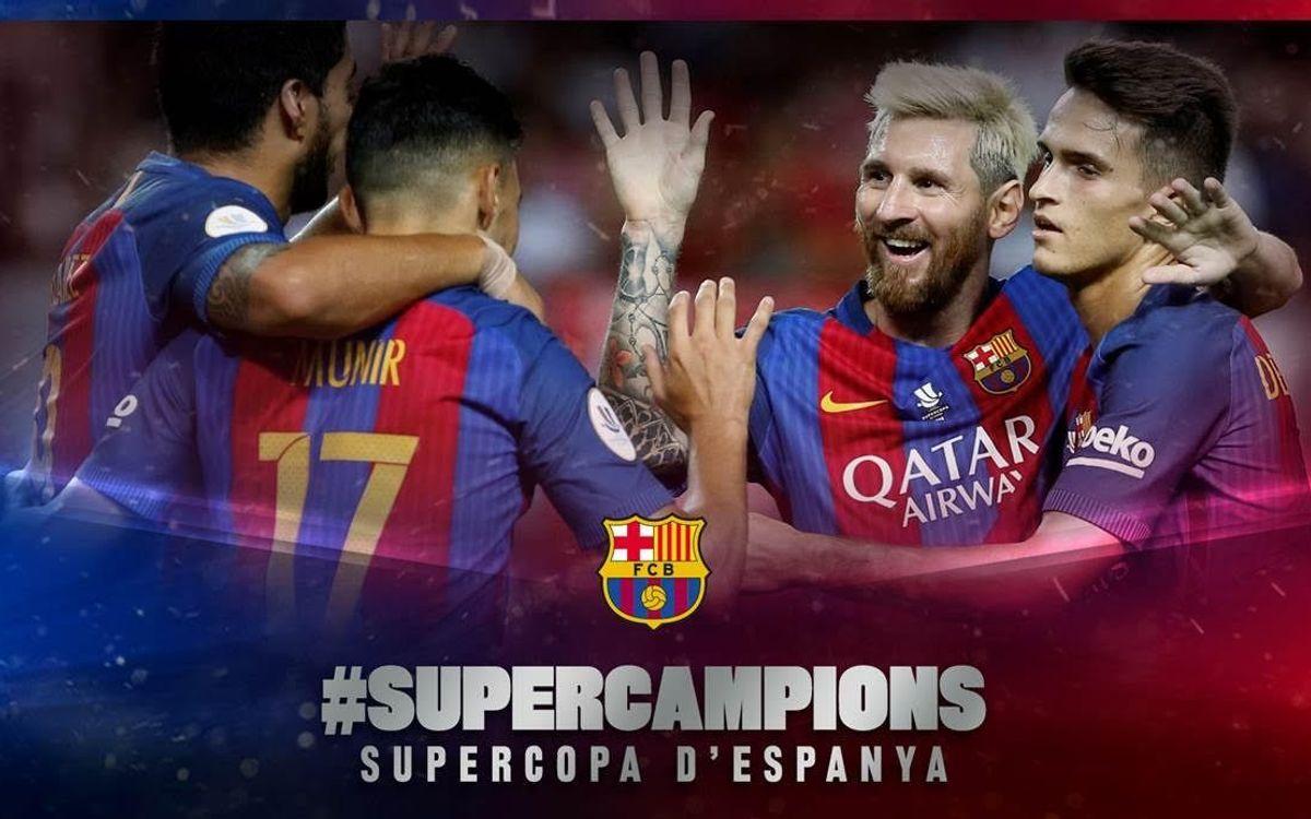 El FC Barcelona guanya la seva 12a Supercopa d'Espanya