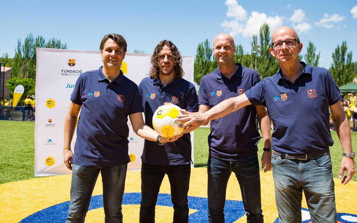 Inauguration of Cruyff Court Carles Puyol in Pobla de Segur
