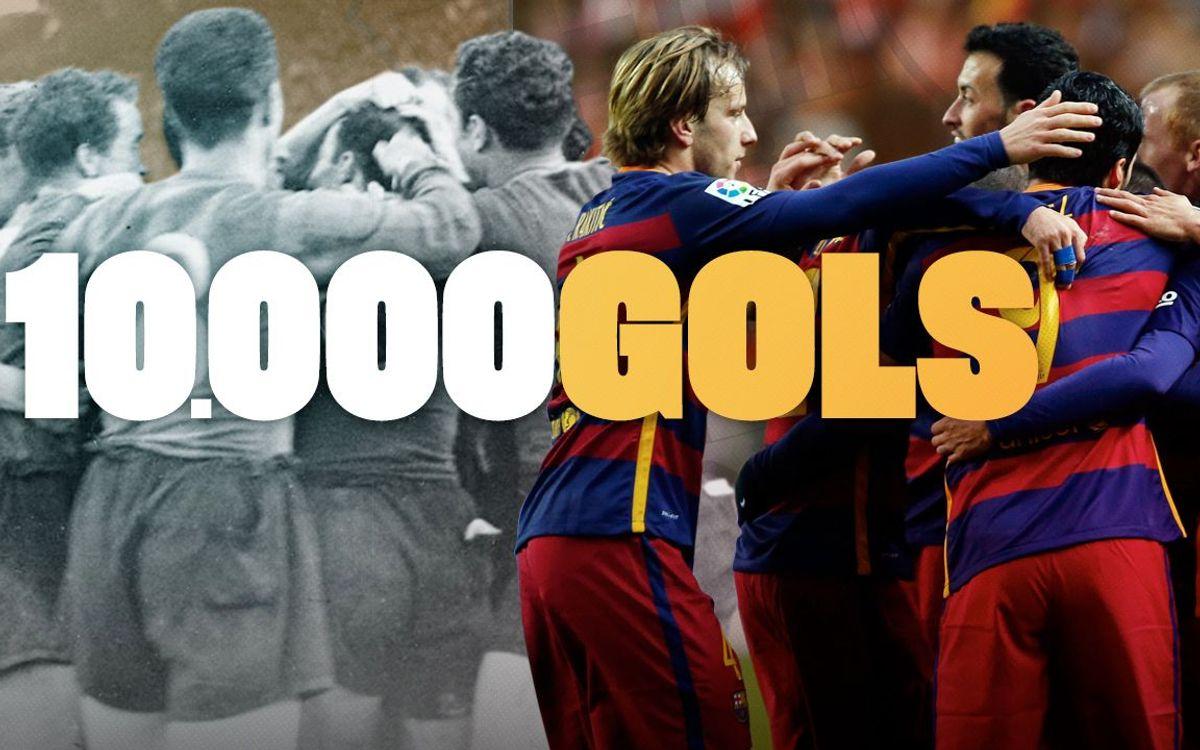 El Barça arriba als 10.000 gols en partits oficials